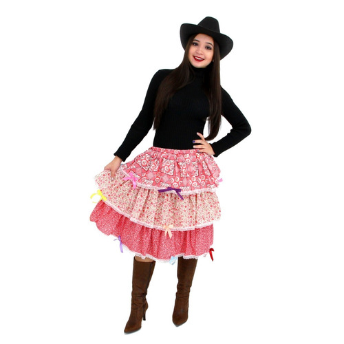 saia festa junina longa - caipira quadrilha  - temos vestido