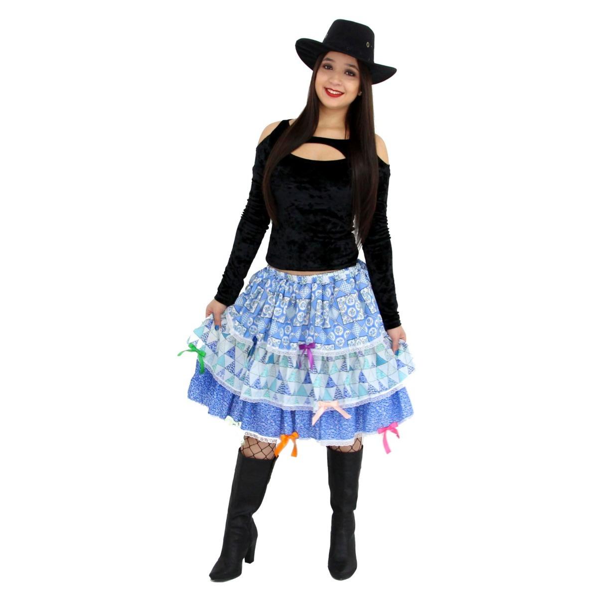 saia festa junina longa - caipira quadrilha - temos vestido. Carregando  zoom. 4106b22909f