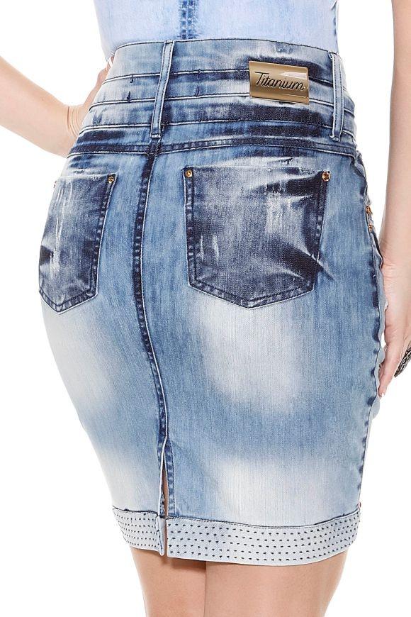 2f052cde59 saia jeans azul tradicional três cos titanium moda evangélic. Carregando  zoom.