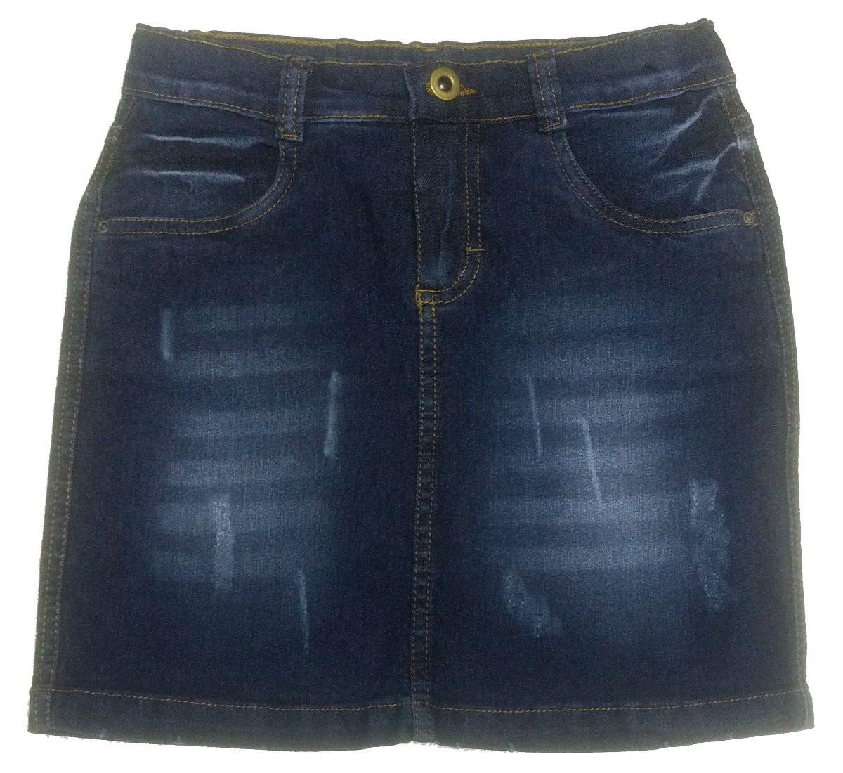 4b03a3d16 Saia Jeans Curta Juvenil Tam. 10 Ao 14 - Ref. 1210 - R$ 54,90 em ...