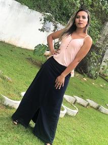 e3ea8e1d4118 Saia Jeans London Jean Marca Vestidos Saias - Saias ao melhor preço no  Mercado Livre Brasil
