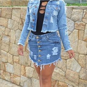 039278faa5a Saia Jeans Cos Alta Desfiada - Calçados, Roupas e Bolsas com o Melhores  Preços no Mercado Livre Brasil