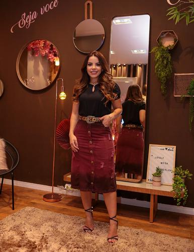 saia jeans feminina destroyed joyaly roupas evangelica moda