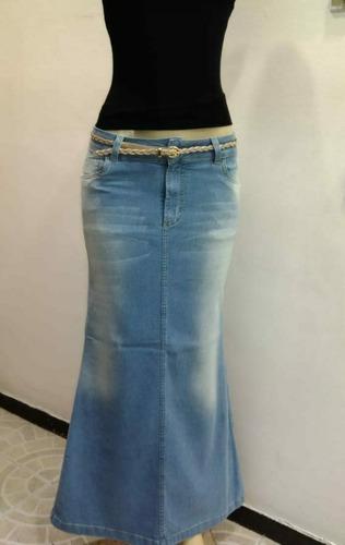 saia jeans longa básica viliju