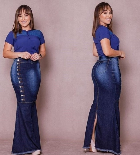 saia jeans longa frt