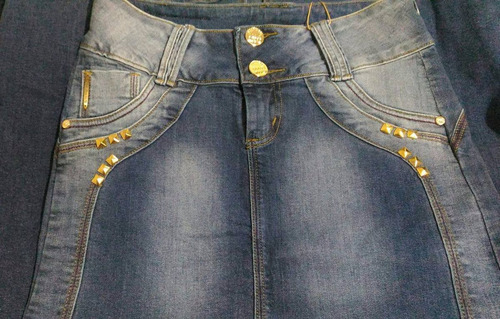 saia jeans longa jeans claro