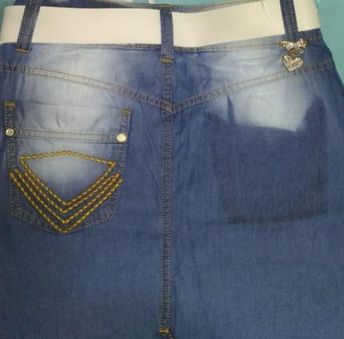 saia jeans longa joyaly