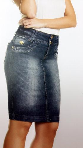 saia jeans moda evangélica laura rosa 8473 tam 46