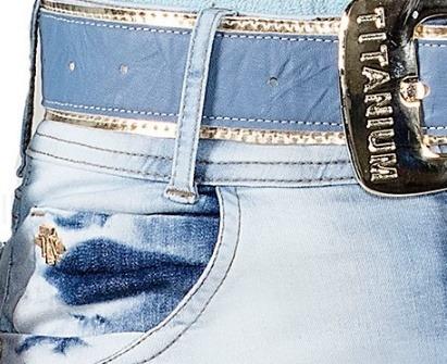 saia jeans moda evangelica titanium 23176 c/ cinto outlet