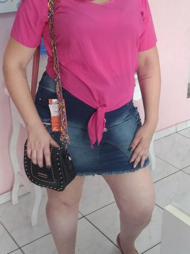 saia jeans plus size