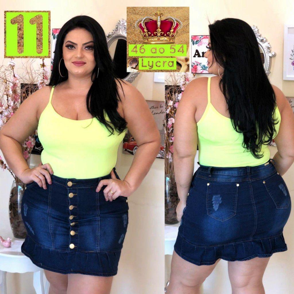 4abc05f13 saia jeans plus size com babado tendencia moderna gg ref. 06. Carregando  zoom.