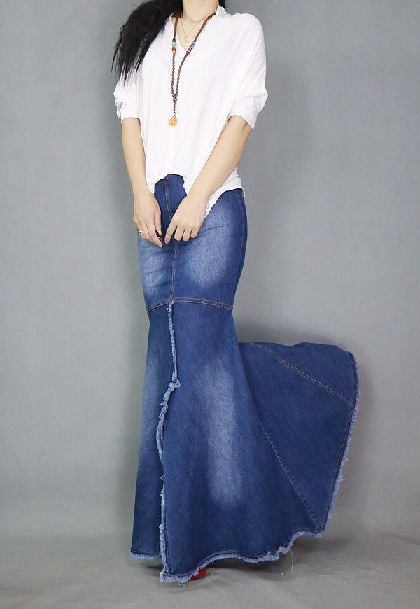 d9a76a6706 saia jeans sereia longa alta qualidade mulheres elegantes. Carregando zoom.