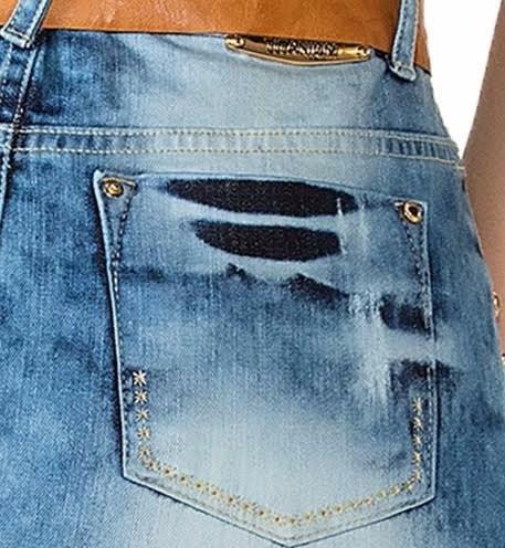 saia jeans titanium 23059 - com cinto - 2017 baixou o preço