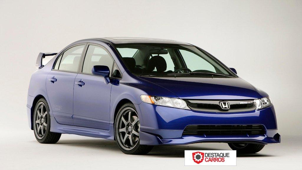 Saia Lateral Mugen Honda Civic Ou Civic Si 2007 Até 2011  . Carregando Zoom.
