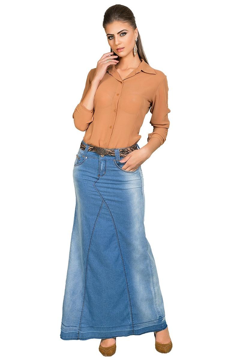 bef5e65d52 saia longa dyork moda evangélica estilo casual jeans. Carregando zoom.