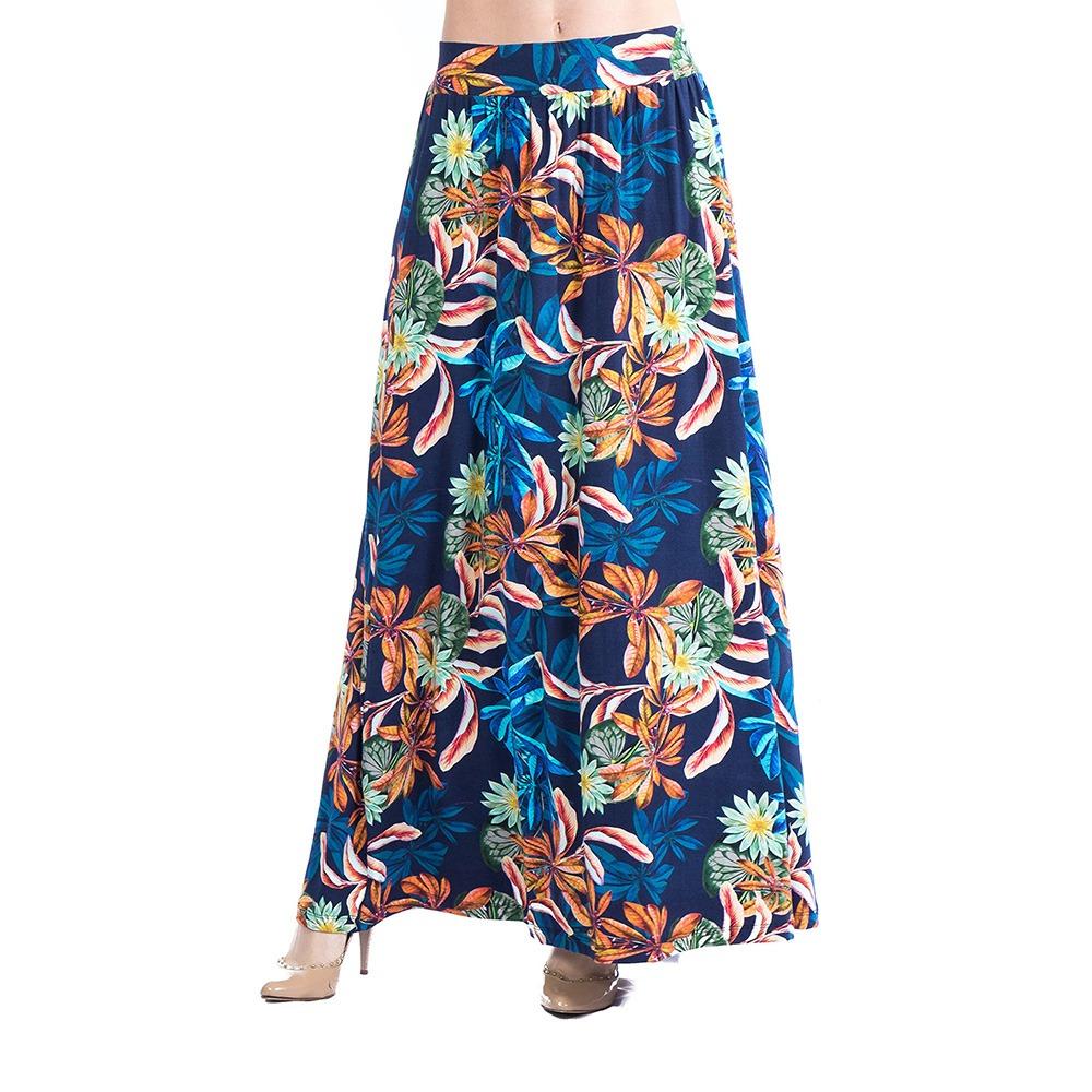 bd2ea14522a saia longa estampada feminina carlan blue ocean floral. Carregando zoom.