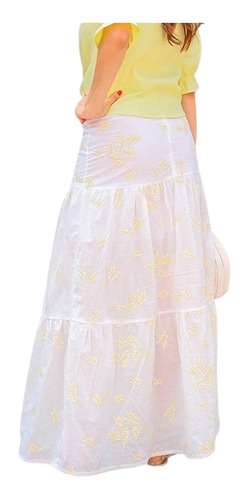 saia longa feminina tres marias moda confortavel evangelica