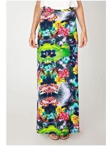 saia longa floral da colcci - nova com etiqueta - tamanho p