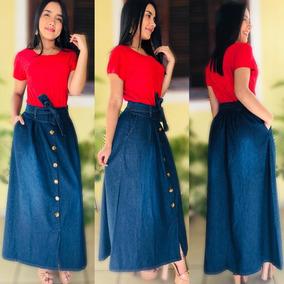 ff38dabe4 Saia Jeans Longa - Saias Outros Modelos Longas Femininas ao melhor preço no  Mercado Livre Brasil