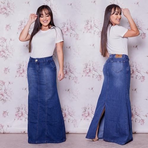 saia longa jeans frt