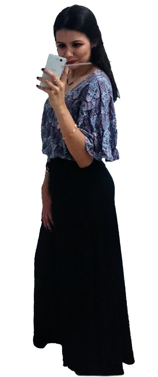 30609508e7 saia longa soltinha elegante cintura alta moda evangélica. Carregando zoom.