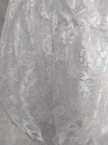 saia luxo e umbanda/organza branca/roupas de santo/orixas c