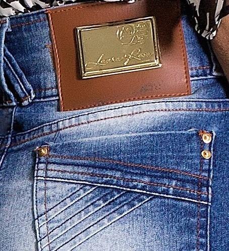 saia  moda evangélica laura rosa jeans 8719