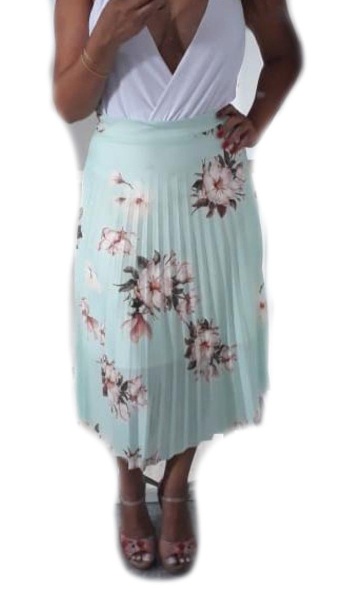 fcd651461 saia plissada midi estampa floral moda evangélica barato. Carregando zoom.
