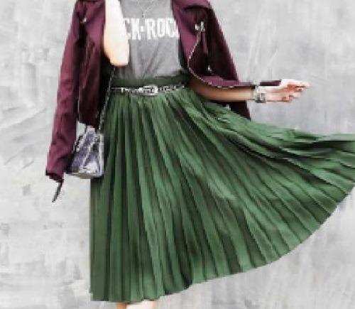 saia plissada moda evangélica feminina atacado