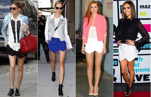 saia shorts assimétrico (varias cores) promoção