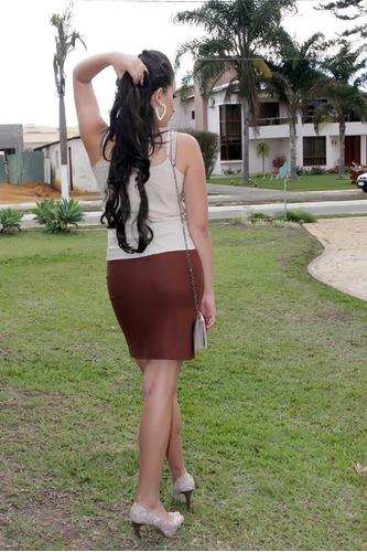 saia suede camurça com fenda feminina promoção