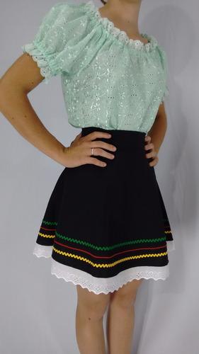 saia típica germânica em tecido oxford traje típico