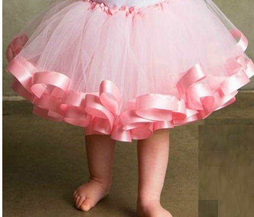 07143f3215 Saia Tutu Bailarina Infantil Rosa Bebe Luxo C  Fita Cetim - R  65