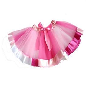 2060f813ca Saia Tutu Carnaval Bailarina Laço Cetim Bebe Rosa 9-24 Meses
