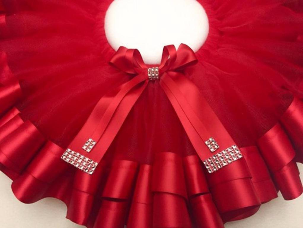 169e184252 saia tutu vermelha fantasia de natal festa infantil menina. Carregando zoom.