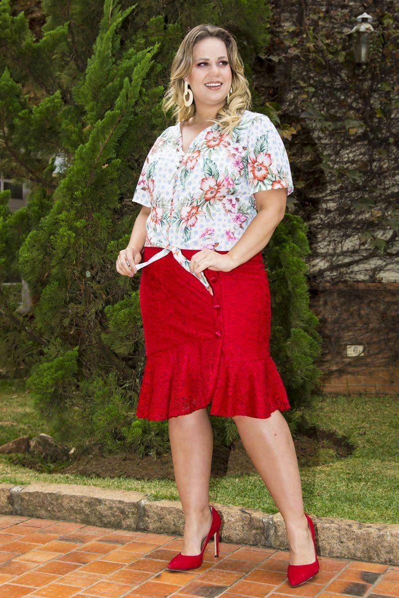 6f6dade38 saia vermelha plus size renda moda evangélica monia kauly. Carregando zoom.