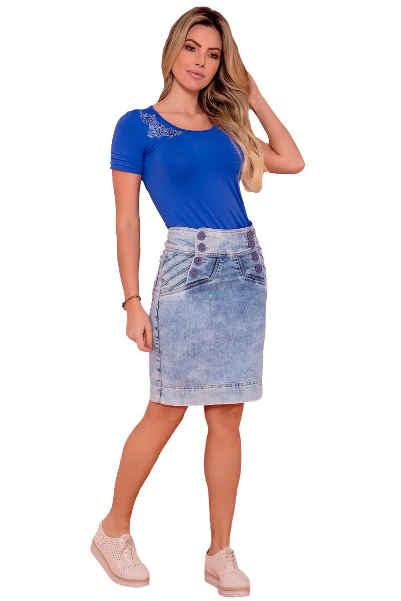 bc11d86ac saia via tolentino jeans aberturas diagonal moda evangélica. Carregando  zoom.