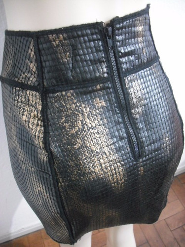 saia viviane furrier imita couro tam p usado bom estado