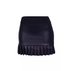 d3b223eb30 Mini Saia Couro Preta Com Tachinhas Zara Super Fashion Tam P Tamanho ...