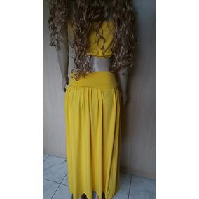 8656be6951 Camiseta Longa Aberta Do Lado - Calçados, Roupas e Bolsas Amarelo no ...