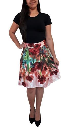 saias evangélicas feminina  cintura alta godê rodada midi