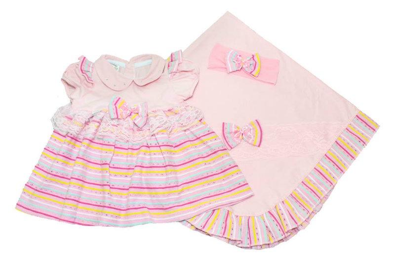 73d22011ec86f saída de maternidade bebê menina vestido arco-ìris rosa. Carregando zoom.