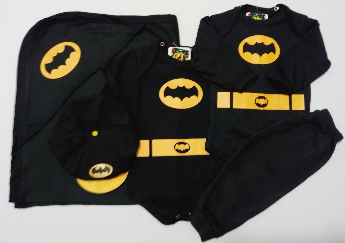 8a20465668d Saída De Maternidade Do Batman- Enxoval C  5 Peças - R  129