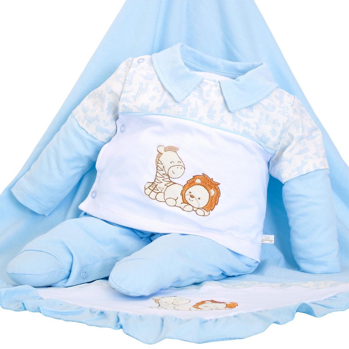 444b764eb8ec2 saída de maternidade mydouu safari luvas e boné azul bebê. Carregando zoom.
