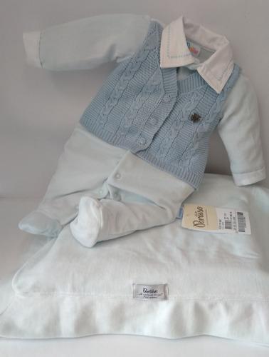 saída de maternidade paraíso bebê menino 9082 ml41 lindo