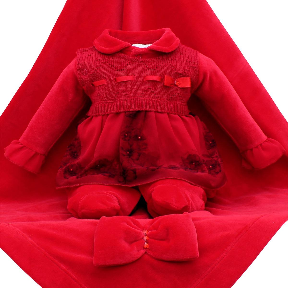 saída de maternidade sonho mágico romantic plush vermelho. Carregando zoom. 2a325bbba5c