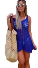 saída de praia banho, vestido tricô comprando 2 ganha +1