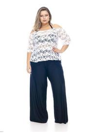 63e9295c9 Calca Pantalona Saida Praia - Calçados, Roupas e Bolsas com o Melhores  Preços no Mercado Livre Brasil