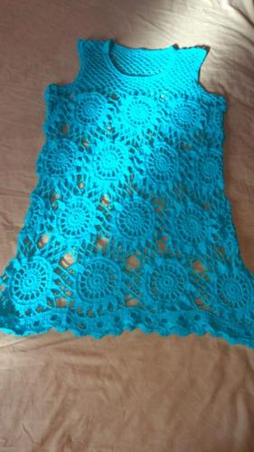 saida de praia em crochê artesanal