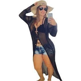 saida de praia longa tricot moda verão 2017